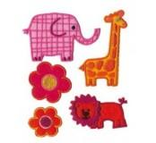 Textilní dekorace 5ks, nalepovací nebo nažehlovací
