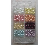 Skleněné perličky, mix 9 barev