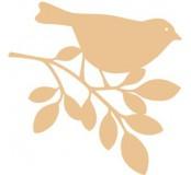 Dřevěná dekorace Ptáček