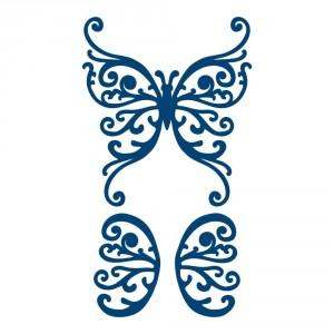 Vyřezávací krajková šablona – Motýl