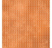 Filc s potiskem 30x30cm, Etno oranž