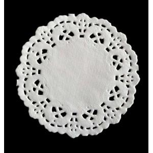 Dekorace - papírová krajka pr. 8,9cm