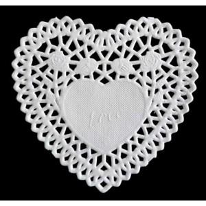 Dekorace - papírová krajka heart