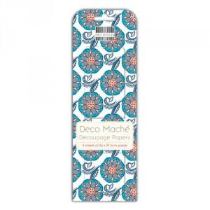 Papíry na decoupage 3ks, Floral Print
