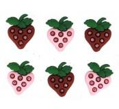 Dekorační knoflíčky Strawberry fields