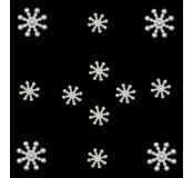 Dekorační knoflíčky Pearl snowflakes