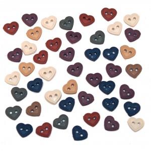 Dekorační knoflíčky Mini stitched hearts