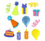 Dekorační knoflíčky MM happy birthday