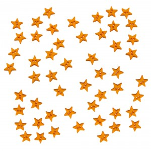 Dekorační knoflíčky Mini stars- yellow