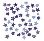 Dekorační knoflíčky Purple- mix