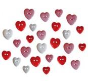 Dekorační knoflíčky Heartbreaker