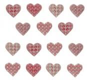 Dekorační knoflíčky Tiny Geos- Baby girl palette