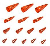 Dekorační knoflíčky Carrot noses