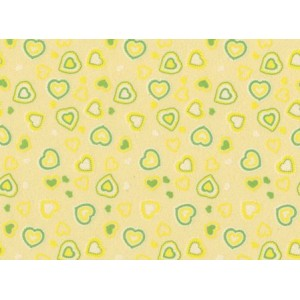Moosgummi žlutá, srdíčka