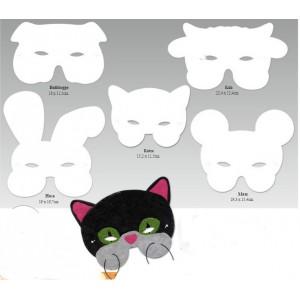 Papírová maska sada zvířata 10ks
