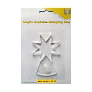 Akrylový blok hvězda 6 x 6 cm