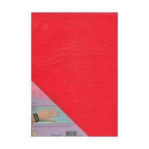 Imitace kůže - A4 červená