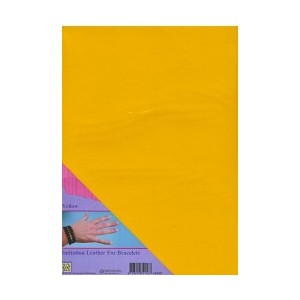 Imitace kůže - A4 žlutá