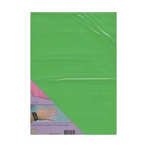 Imitace kůže - A4 zelená