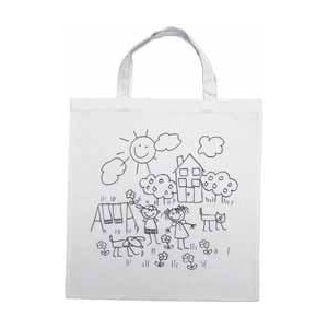 Bavlněná taška 38 x 42 cm, potisk děti