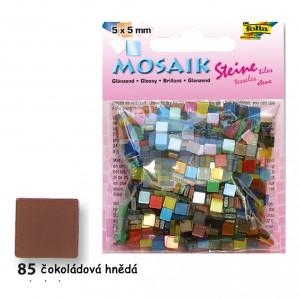Mozaika z pryskyřice 5x5 mm - lesklá hnědá