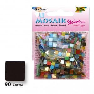 Mozaika z pryskyřice 5x5 mm - lesklá černá