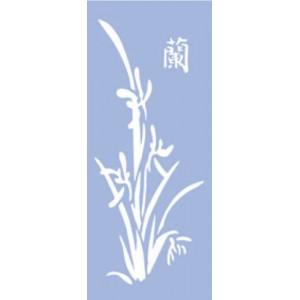 Plastová šablona, bambus