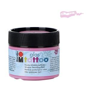 Dekorační barva Glass Tattoo 100 ml, růžová