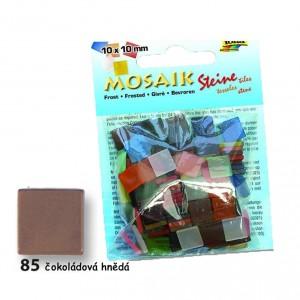 Mozaika z pryskyřice 10x10 mm - čokoládová