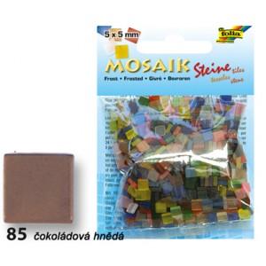 Mozaika z pryskyřice 5 x 5 mm - čokoládová