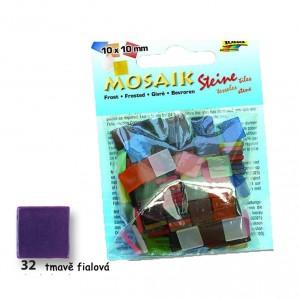 Mozaika z pryskyřice 10x10 mm - tmavě fialová