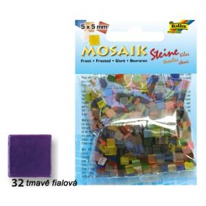 Mozaika z pryskyřice 5 x 5 mm - tmavě fialová