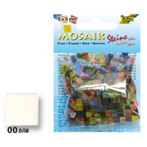 Mozaika z pryskyřice 5 x 5 mm - bílá
