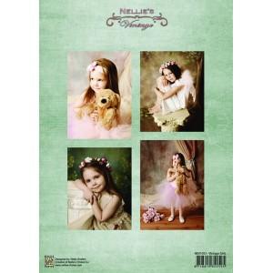 Dekorační papír Vintage Little Girls