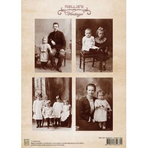 Dekorační papír Vintage Family