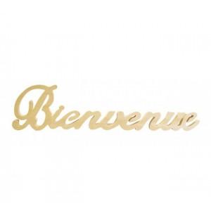 Dřevěný nápis Bienvenue - Vítejte