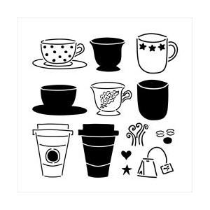 Plastová šablona - Mini CafeLatte, 15 x 15 cm