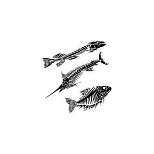 Plastová šablona - Fish Fossils, 30 x 30 cm
