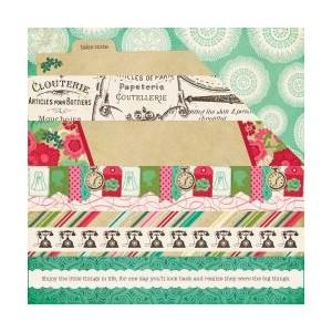 Scrapbookový papír motiv Border strips - korálky a dekorace