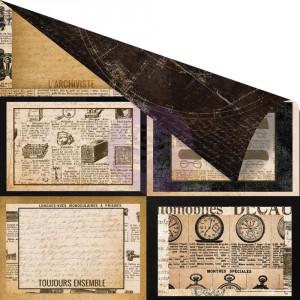 Scrapbookový papír motiv Le Collectionneur - korálky a dekorace