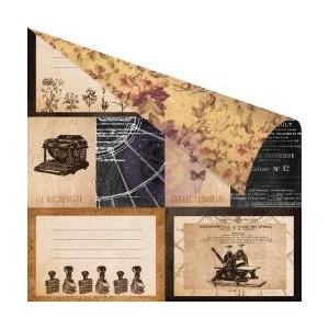 Scrapbookový papír motiv L'Archiviste - korálky a dekorace