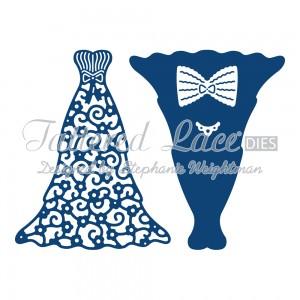 Vyřezávací krajková šablona – Plesové šaty