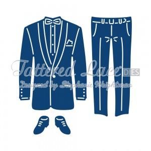 Vyřezávací krajková šablona –  Oblek