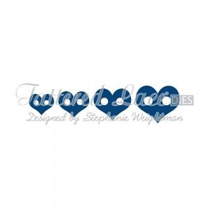 Vyřezávací krajková šablona – Mini knoflíčky srdce