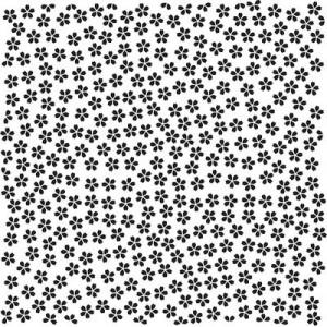 Embosovací šablona 15 x 15 cm - kvítky