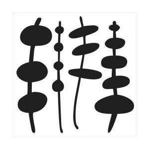 Plastová šablona -  Mini Pod on Sticks, 15 x 15 cm