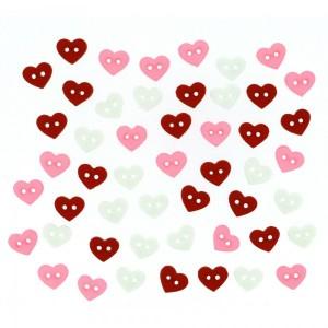 Dekorační knoflíčky Micro Valentine Hearts