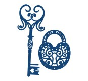 Vyřezávací krajková šablona- Zámek a klíč