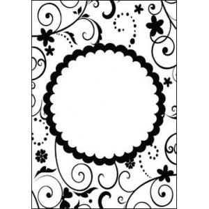 Embosovací šablona Kulatý rámeček
