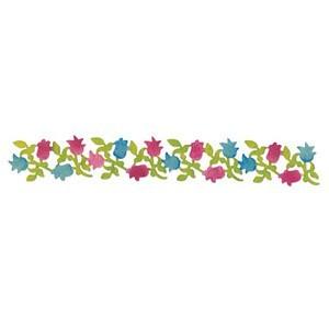 Výsekový nůž - květiny 29 x 4,2 cm